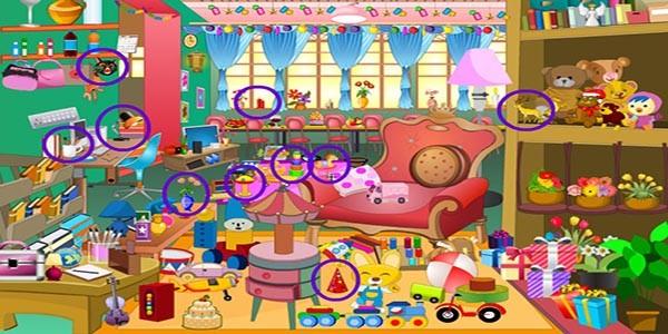 بازی آنلاین اشیا مخفی اتاق دخترانه