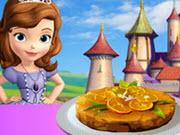 بازی آنلاین پختن کیک پرتقالی پرنسس سوفیا