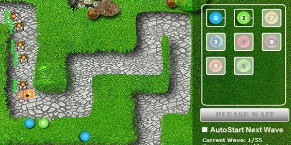 بازی جنگ دفاع از قلعه