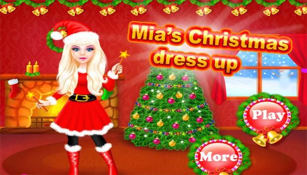 بازی انلاین دخترانه لباس کریسمس میا